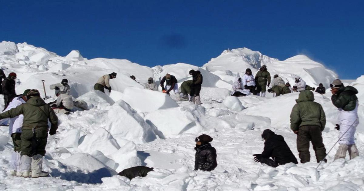 J&K: Four soldiers and two porters killed in Siachen avalanche