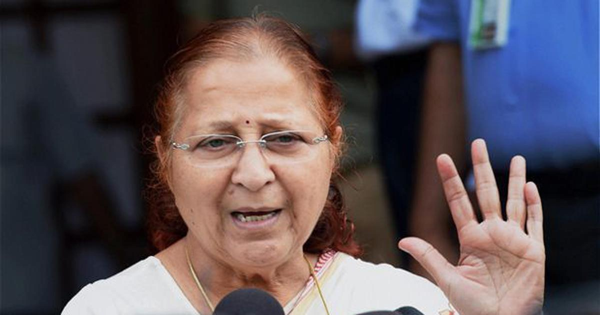Sumitra Mahajan drops out of poll race, complains of BJP's delay in naming candidate from Indore