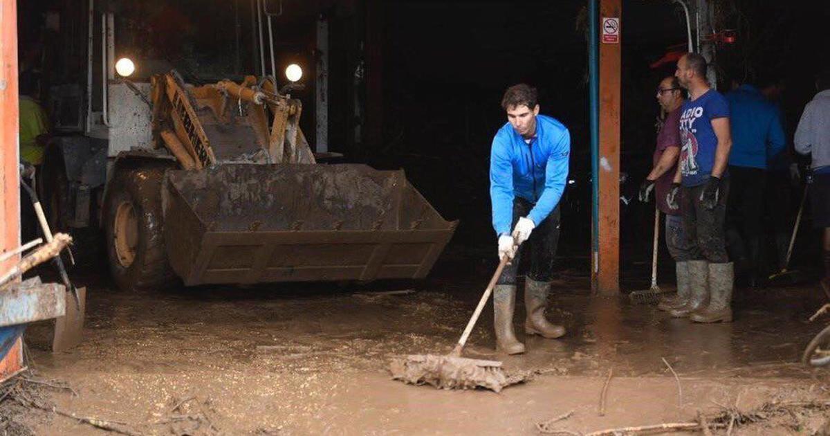 Watch: Nadal volunteers to clean Majorca after floods, Federer, Djokovic hail his efforts
