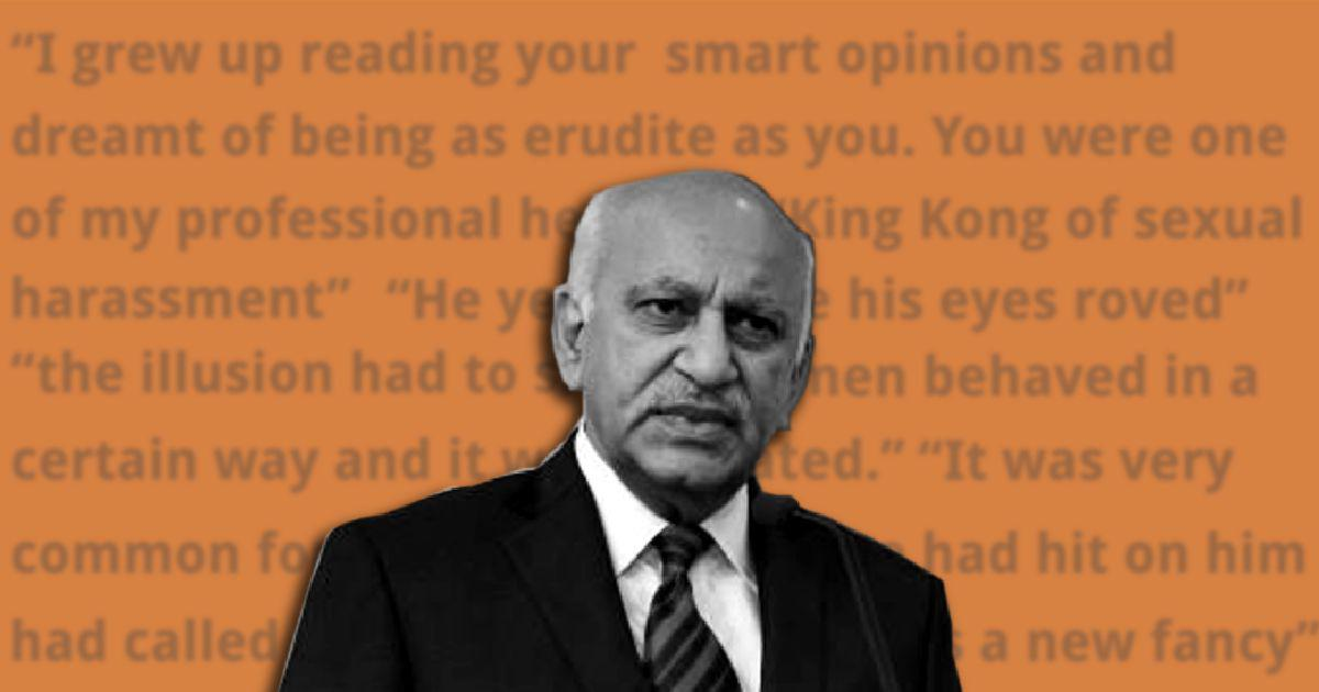MJ Akbar #MeToo sexual harassment row: How an editor