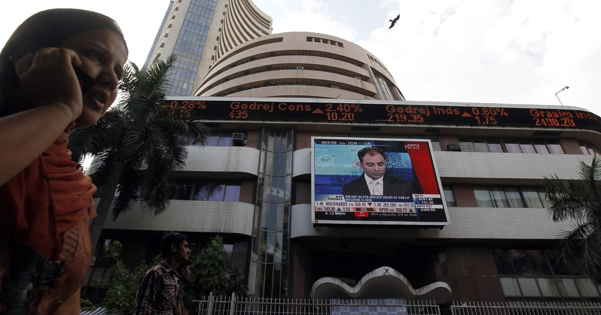 Sensex closes at 6-month low, Nifty declines nearly 100 points as shares of oil marketing firms dip