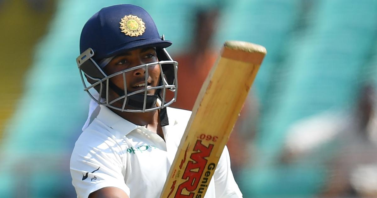 India's teen batting prodigy Prithvi Shaw plunders West Indies on test debut