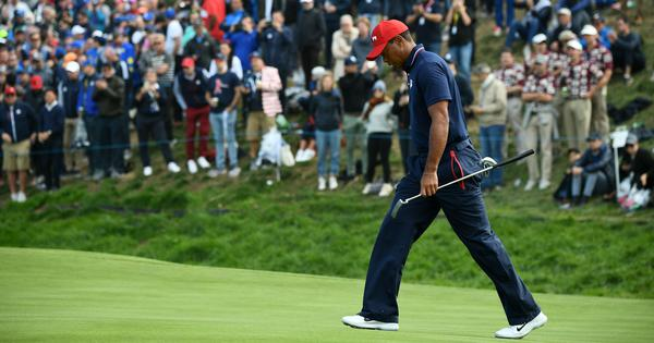I was knackered: Tiger Woods blames fatigue for below-par showing at the Ryder Cup