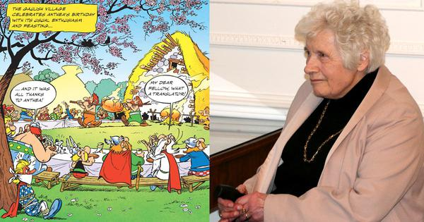 'A true genius': Twitter pays tribute to Anthea Bell, who elevated 'Asterix' with her translations