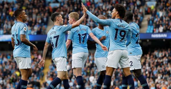 Rampant Manchester City rout Burnley 5-0 to move to top of Premier League table