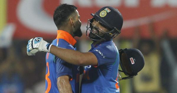 Kohli, Rohit's blistering centuries help India cruise to eight-wicket win against Windies in 1st ODI