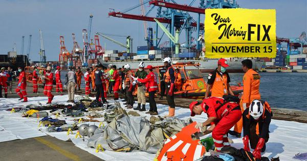 Your Morning Fix: Is Boeing culpable for the Lion Air crash that killed 189 people?