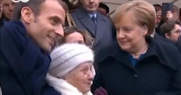 Watch: 101-year-old mistook Germany's Angela Merkel for French President Emmanuel Macron's wife