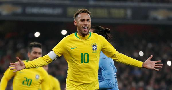 Neymar penalty the difference between Brazil and Uruguay in bad-tempered friendly