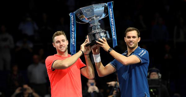 ATP Finals: Mike Bryan and Jack Sock fight from a set down to win doubles title in thriller