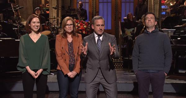 Watch: Steve Carell teases 'The Office' reboot with former cast members on Saturday Night Live