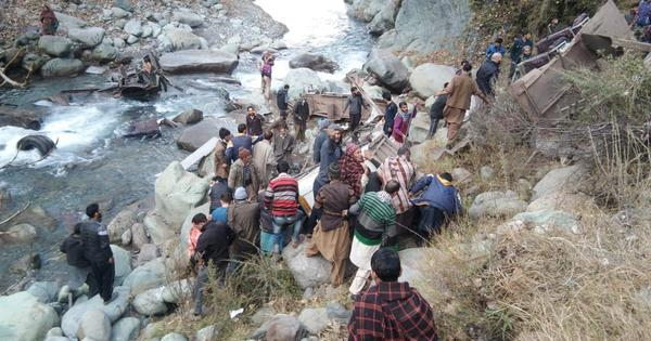 Jammu and Kashmir: 13 killed, as many injured after bus falls into gorge