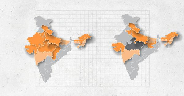 For the first time since 2014, saffron has shrunk on the map of India