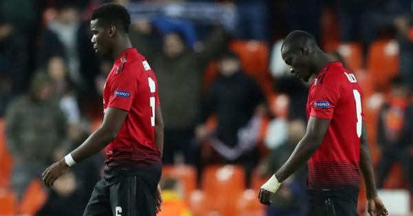 United squander chance to top Champions League group after lacklustre loss to Valencia