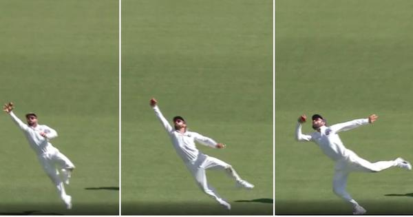 Watch: Virat Kohli takes a brilliant catch at second slip on day one in Perth Test
