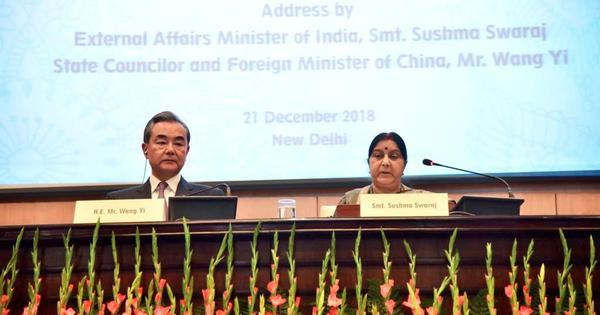 External affairs minister Sushma Swaraj holds talks with Chinese counterpart in Delhi
