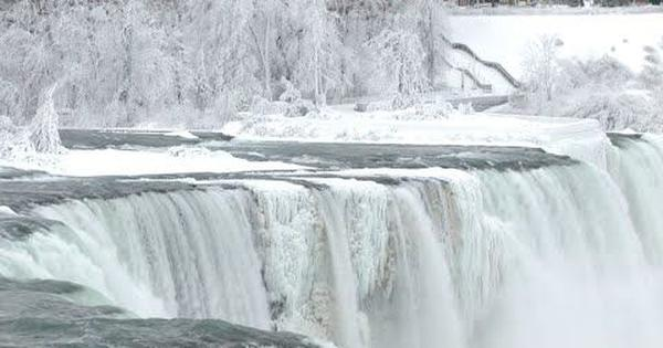 Watch: Parts of the Niagara Falls have frozen in extreme cold conditions