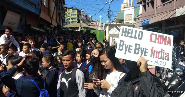 'Hello China, Bye Bye India': In Mizoram, students are protesting against Citizenship Bill