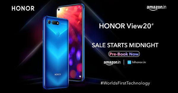 Honor View 20 launched today in India starting at Rs 37,999