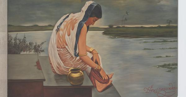 The Bengali artist who popularised the 'wet sari effect' and invented a new genre of figure painting