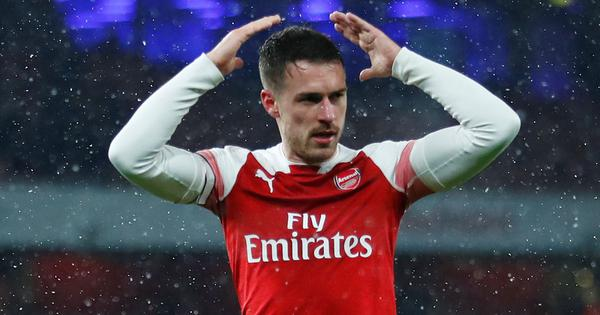 Aaron Ramsey could have played his last game for Arsenal after limping off Europa League match