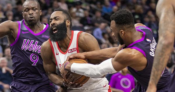 NBA wrap: Harden continues scoring streak but Rockets go down to Timberwolves