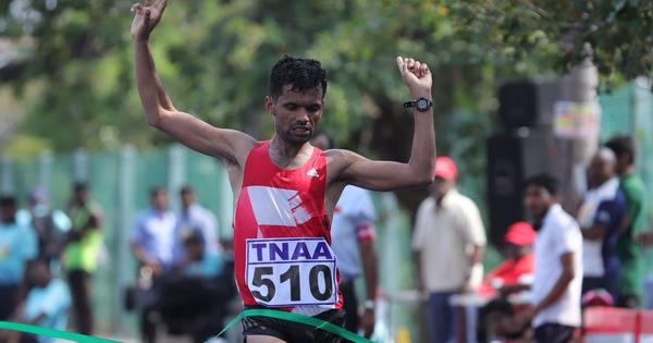 Jitendra Singh wins National Race Walking Championship but falls short of Worlds qualification mark