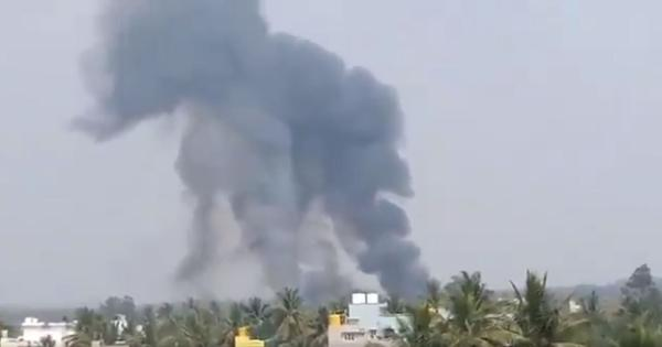 Bengaluru: Two Surya Kiran jets crash during rehearsal for Aero India 2019, one pilot killed