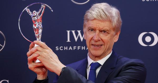 Former Arsenal boss Arsene Wenger wins Laureus Lifetime Achievement award