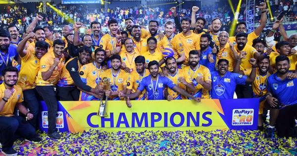 Pro Volleyball League: Chennai Spartans win title, defeat Calicut Heroes 3-0 in final
