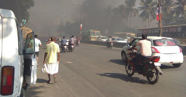 Chennai: Over 150 cars gutted in fire at parking lot