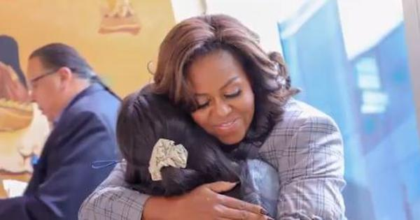 Watch: 'Share your story, don't hide it,' Michelle Obama told students in Arizona