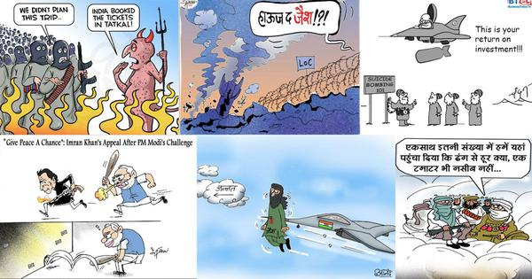 Cartoonists cheer 'Surgical Strike 2', praise Modi