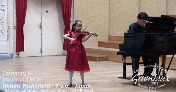 Watch: Seven-year-old wins top international prize with her violin recital
