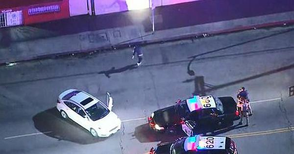 Watch: Following a chase, suspect baffles police by dancing while their guns are pointed at him
