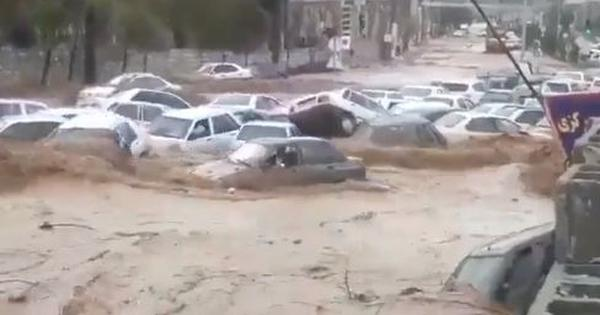 Watch: Devastating flash floods in Southern Iran kill at least 19, dozens injured