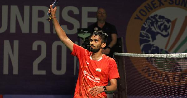 Badminton: Kidambi Srikanth reaches Hong Kong Open semi-finals after Chen Long retires hurt
