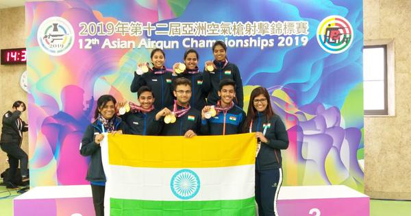 Asian Airgun Championships: India clean sweep podium in men's junior rifle to top medal tally