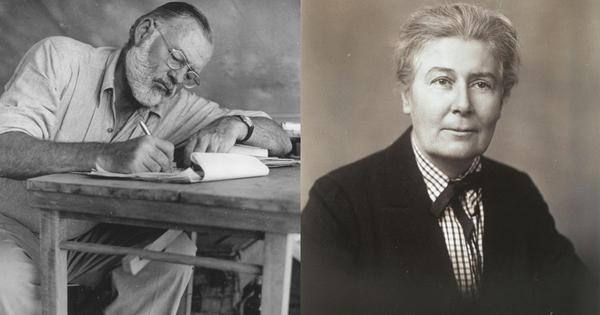 Did Ernest Hemingway's famous writing style come from the work of a censored female author?