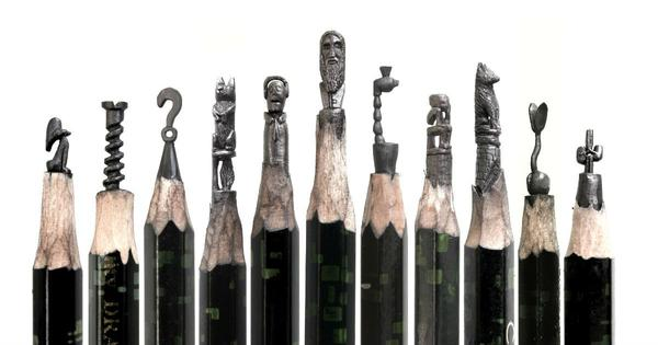 Small is beautiful: An artist in Tamil Nadu is carving miniature sculptures on pencil tips