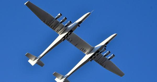 World's largest plane takes first flight, aims to act as flying launch pad for satellites