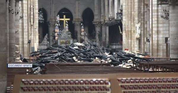 Watch: Videos, pictures show the extent of damage to Notre Dame cathedral after the massive fire