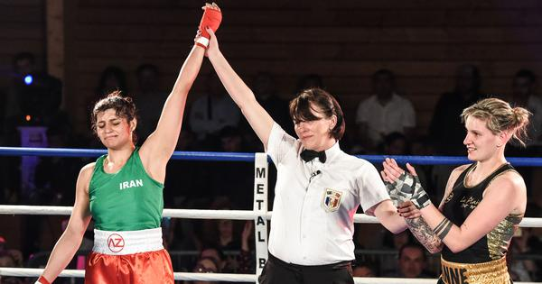 She became Iran's first female boxer to win an international fight and now she can't go home