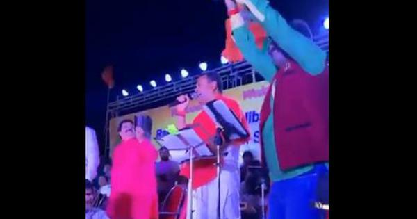 Watch: When BJP's Sambit Patra sang Telugu song to woo voters from the community in Odisha's Puri