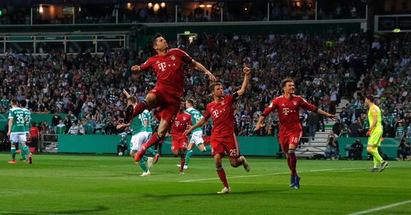 German Cup: Lewandowski fires Bayern Munich into final after 3-2 win over Werder Bremen