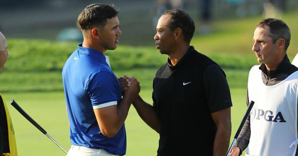 PGA Championship: Brooks Koepka takes record seven-stroke lead after Round 2, Tiger Woods misses cut