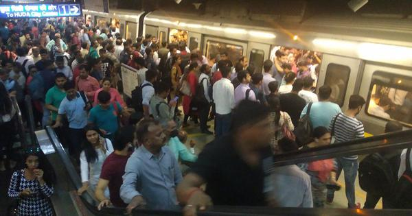 Delhi: Commuters stuck after snag hits metro services on Yellow Line