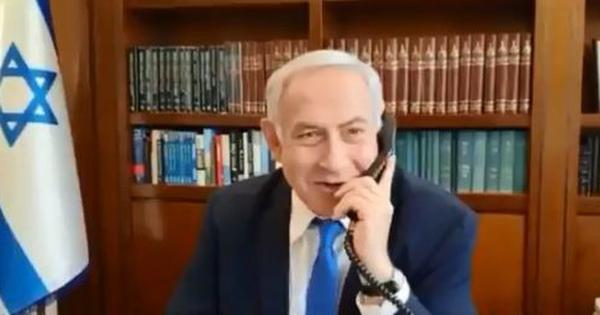 Doing it for the camera: Watch Netanyahu's congratulatory phone call to Modi here