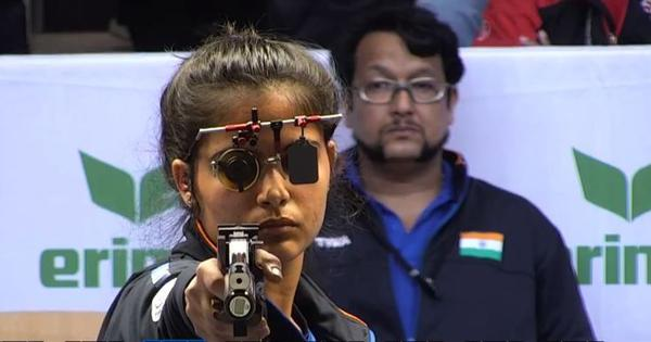 Shooting World Cup: Manu Bhaker clinches Olympic quota in 10m pistol but misses medal by 0.1 points