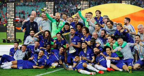 Trophies, it's a Chelsea thing: Twitter toasts Blues' Europa League triumph against Arsenal